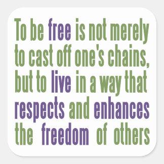 Autocollants de citation de liberté