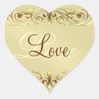 Autocollants de coeur d'amour de rouleau de Grande