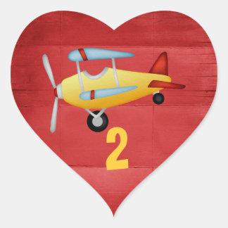 Autocollants de coeur de partie d'avion