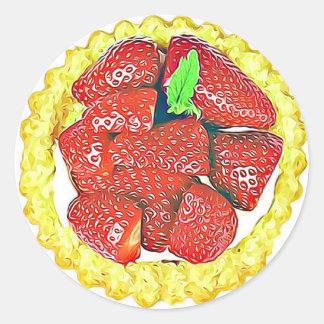Autocollants de dessert de tarte sablée de fraise