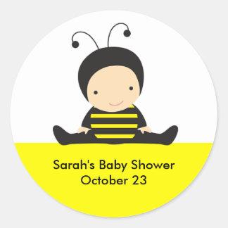 Autocollants de douche d'abeille de bébé