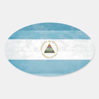 Autocollants de drapeau du Nicaragua