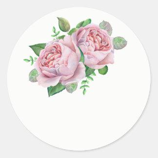 Autocollants de faveur de mariage de rose de rose