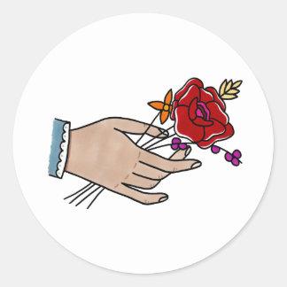 Autocollants de fleurs de //de main