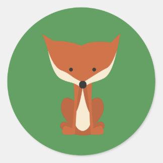 Autocollants de Fox rouge