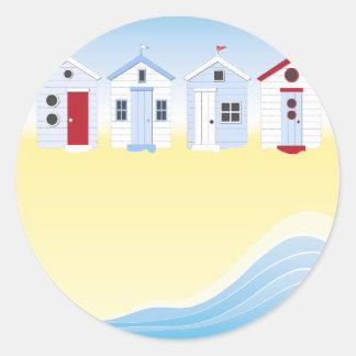 Autocollants de huttes de plage