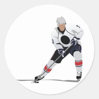 Autocollants de joueur de hockey de glace