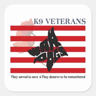 Autocollants de jour de vétérans des vétérans K9
