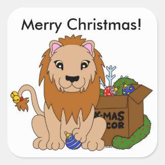 Autocollants de lion de Noël
