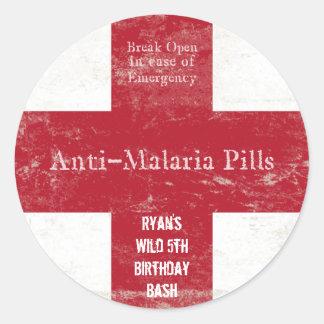 Autocollants de malaria de safari