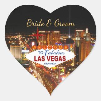 Autocollants de mariage de bande de Las Vegas