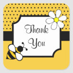 Autocollants de Merci d'abeille