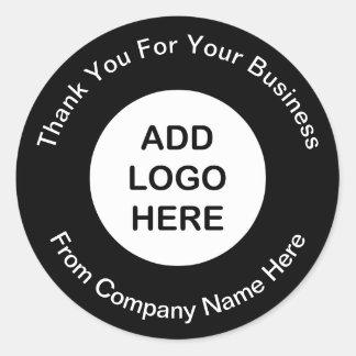 Autocollants de Merci de logo d'affaires