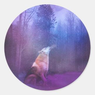 Autocollants de Noël de loup