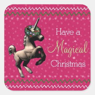 """Autocollants """"de Noël magique"""" de licorne de"""