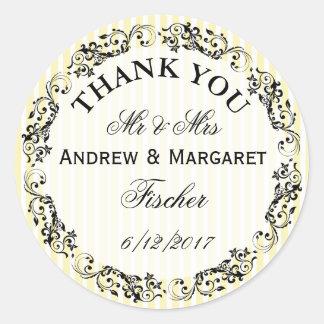 Autocollants de note de Merci de mariage