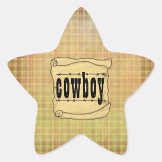 Autocollants de papier vintages d'étoile de cowboy