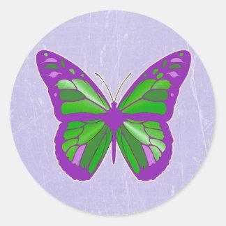 Autocollants de papillon de vert de pourpre, de