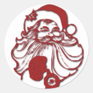 Autocollants de Père Noël et joints d'enveloppe
