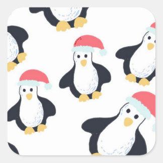 Autocollants de pingouins de Noël