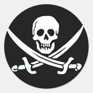 Autocollants de pirate de jolly roger