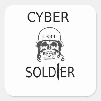 Autocollants de pirate informatique de soldat de