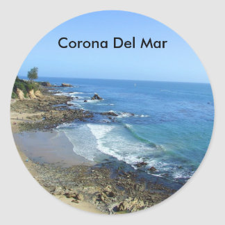 Autocollants de plage de Corona del Mar la