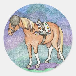 Autocollants de poney d'artiste