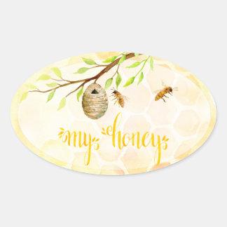 Autocollants de pot de miel de rucher d'abeille