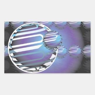 Autocollants de rectangle, UNIVERS SPHÉRIQUE mat