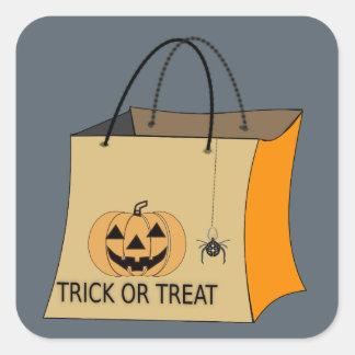 Autocollants de sac de des bonbons ou un sort