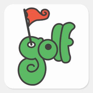 Autocollants de signe de golf