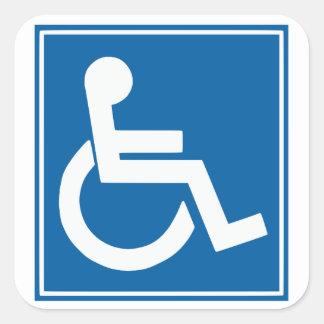 Autocollants de signe d'handicap