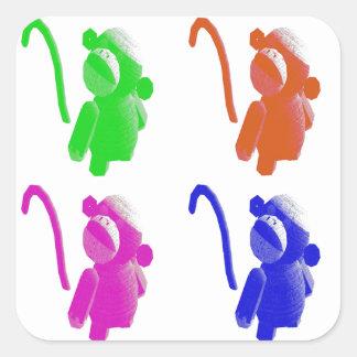 Autocollants de singe de chaussette