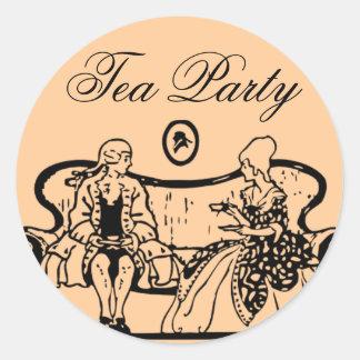 autocollants de thé
