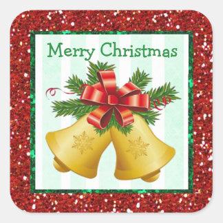 Autocollants de vacances de Bells de Joyeux Noël