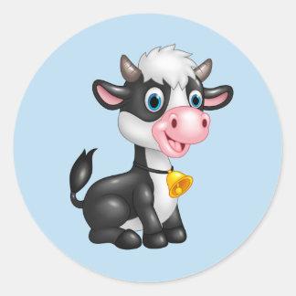 Autocollants de vache à bébé