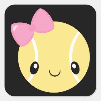 Autocollants d'Emoji de fille de tennis