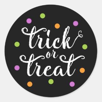 Autocollants des confettis | Halloween de des