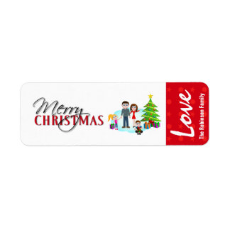 Autocollants d'étiquette de cadeau de Noël Étiquettes D'adresse Retour