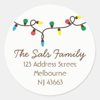 Autocollants d'étiquettes de adresse de Noël