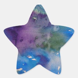 Autocollants d'étoile, brillants avec la