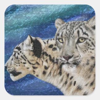 Autocollants d'habitat de léopard de neige