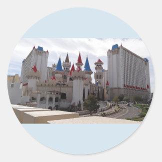 Autocollants d'hôtel et de casino d'Excalibur
