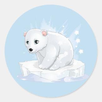 Autocollants d'ours blanc de bébé
