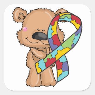 Autocollants d'ours de ruban de sensibilisation
