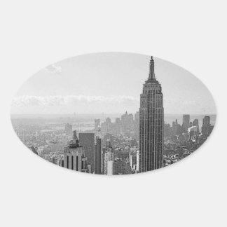 Autocollants d'ovale de New York City