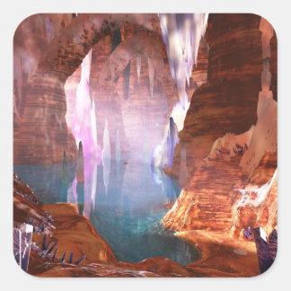 Autocollants éclatants de cavernes