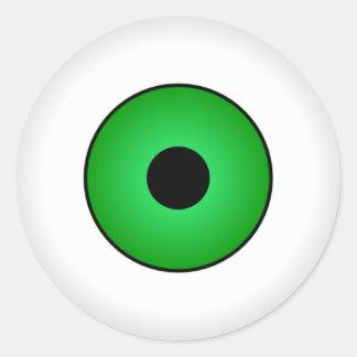 Autocollants éffrayants verts de globe oculaire