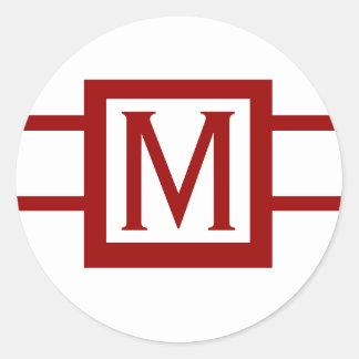 Autocollants élégants de monogramme de mariage